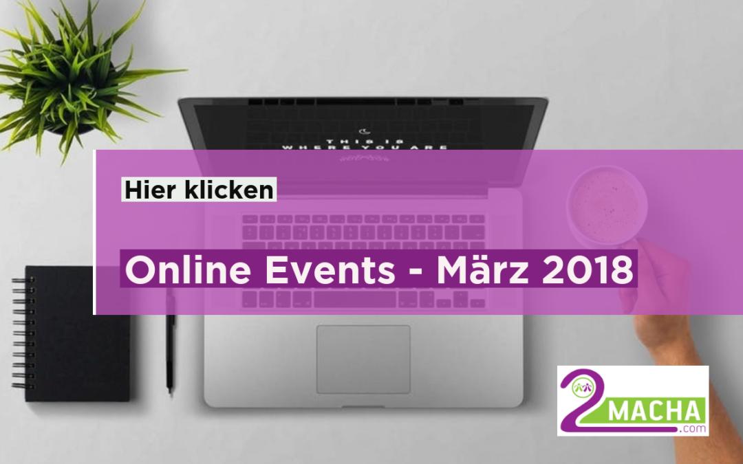 Online Events- Unsere Empfehlungen im März 2018