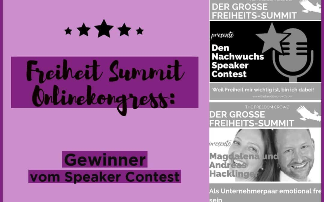 Freiheit Summit Onlinekongress: Gewinner vom Speaker Contest