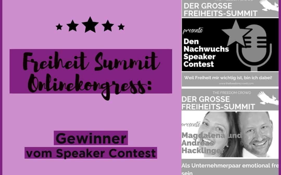 Freiheit Summit Onlinekongress: Gewinner vom Speaker Contest