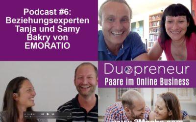 Glückliche Paarbeziehung und Erfolg im gemeinsamen Business? – Interview mit Beziehungsexperten Emoratio-Folge 6 vom Duopreneur-Podcast