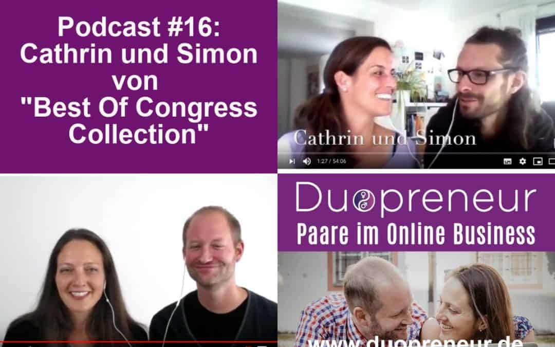 "Cathrin und Simon von ""Best Of Congress Collection"" – Folge 16 vom Duopreneur-Podcast"